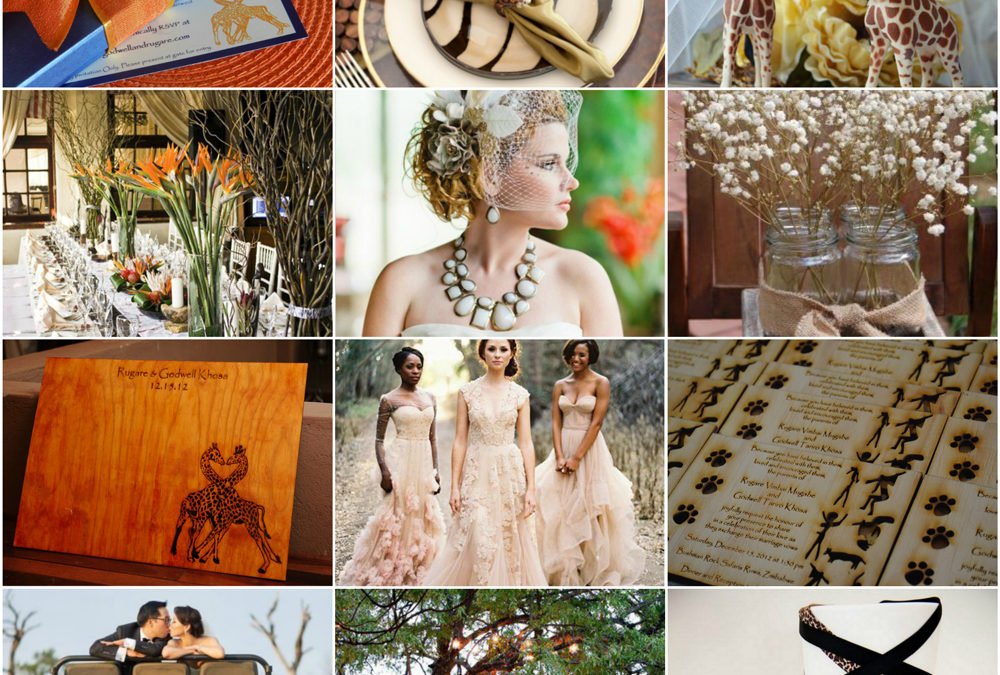 Inspiration Board: Out Of Africa Luxury Weddings